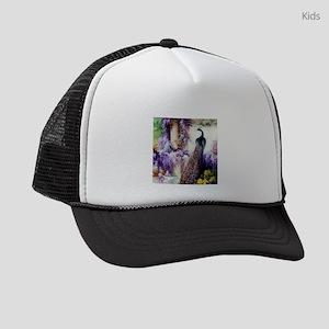 Bidau Peacock, Wisteria, Doves Kids Trucker hat