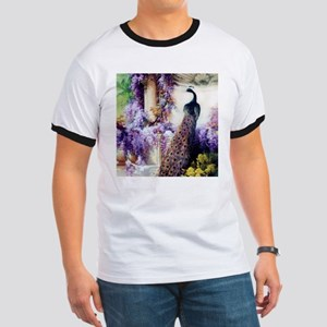 Bidau Peacock, Wisteria, Doves T-Shirt