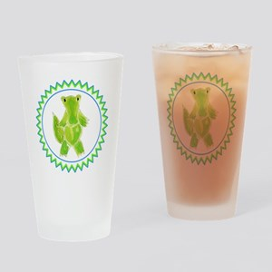 Alligator Zig Zag Drinking Glass