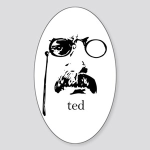 Teddy Roosevelt Oval Sticker