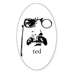 Teddy Roosevelt Oval Decal