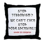 Stop Pork Spending Throw Pillow