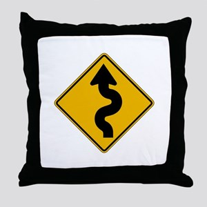 Winding Road - USA Throw Pillow