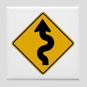 Winding Road - USA Tile Coaster