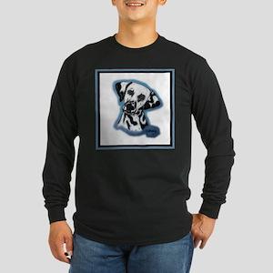 Dalmatian Head Study Long Sleeve Dark T-Shirt