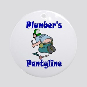 Plumber's pantyline Ornament (Round)
