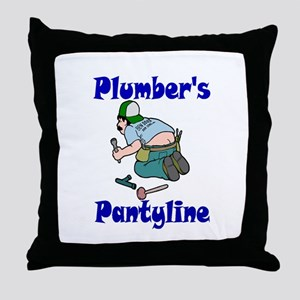 Plumber's pantyline Throw Pillow