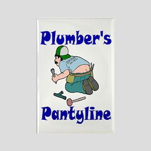 Plumber's pantyline Rectangle Magnet