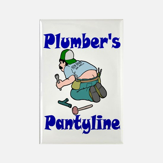 Plumber's pantyline Rectangle Magnet