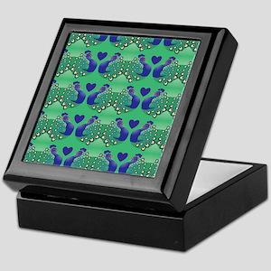 Elegant peacock closer pattern Keepsake Box