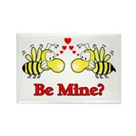 Be Mine Bees Rectangle Magnet