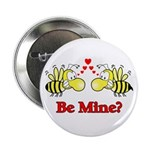Be Mine Bees Button