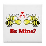 Be Mine Bees Tile Coaster