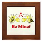 Be Mine Bees Framed Tile
