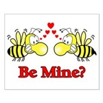 Be Mine Bees Small Poster