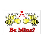 Be Mine Bees  Mini Poster Print