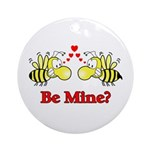 Be Mine Bees Ornament (Round)