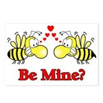 Be Mine Bees Postcards (Package of 8)