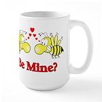 Be Mine Bees Large Mug