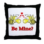 Be Mine Bees  Throw Pillow