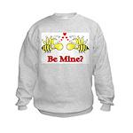 Be Mine Bees Kids Sweatshirt