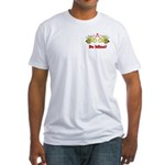 Be Mine Bees Fitted T-Shirt