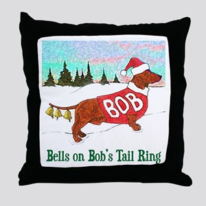 """BELLS ON BOB'S TAIL RING"" Throw Pillow"