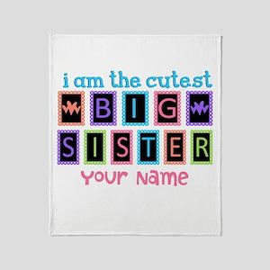 Cutest Big Sister Throw Blanket