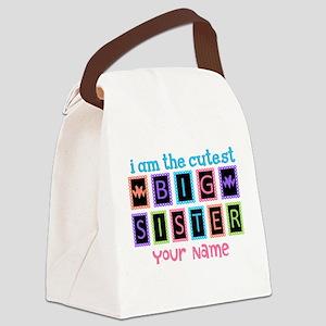 Cutest Big Sister Canvas Lunch Bag