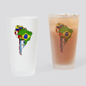South America Flag Map Drinking Glass