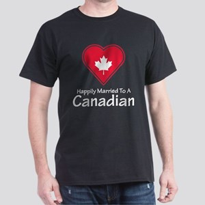 Happily Married Canadian Dark T-Shirt
