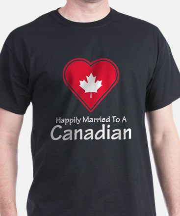 Happily Married Canadian T-Shirt