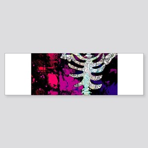 Fun and Funky Pop Art Sugar Skull f Bumper Sticker