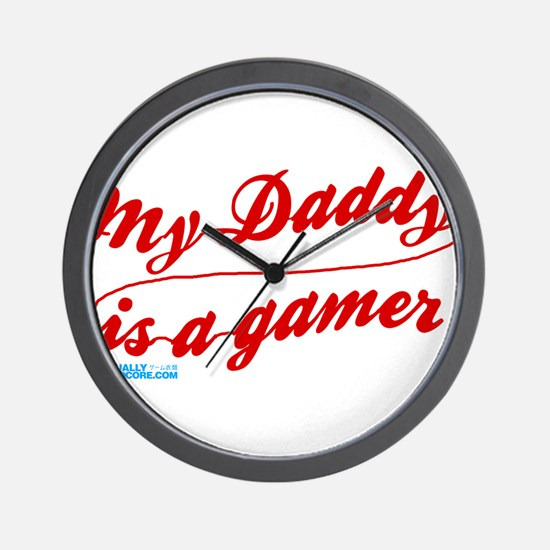 My Daddy Is A Gamer Wall Clock