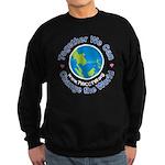 white logo for dark background Sweatshirt