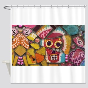 Fun And Funky Pop Art Sugar Skull M Shower Curtain