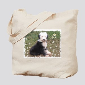 Old English Sheepdog puppy Tote Bag
