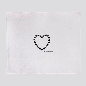 Broken Hearted Heart Throw Blanket