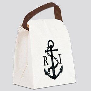 Rhode Island Anchor Canvas Lunch Bag