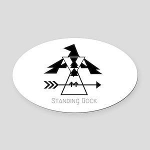 Standing Rock Oval Car Magnet