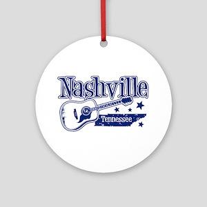 Nashville Tennessee Ornament (Round)