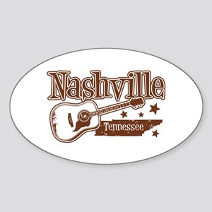 Nashville Tennessee Oval Sticker