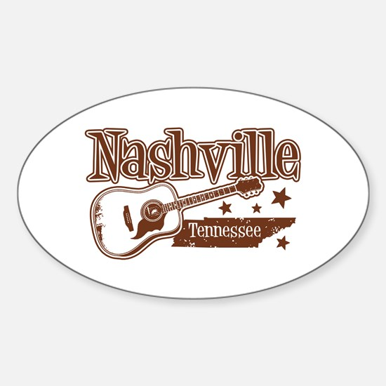 Nashville Tennessee Oval Decal