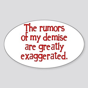 The Rumors... Oval Sticker