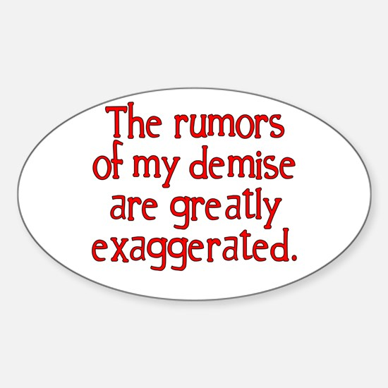 The Rumors... Oval Decal