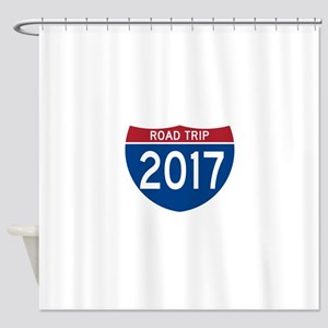 Road Trip 2017 Shower Curtain