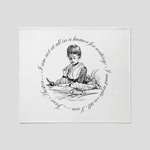 Writing Pen Ink Throw Blanket