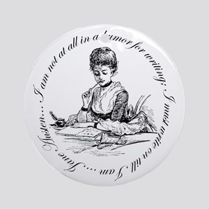 Writing Pen Ink Ornament (Round)