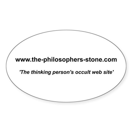The Philosopher's Stone address Oval Sticker