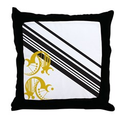 Crescent Mustard Throw Pillow